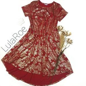 ❣ LulaRoe ❣XS Camisole Tunic Dress Red Gold Carly